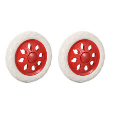 Shopping Cart Wheels Trolley Caster Replacement 65 Inch Diameter Red 2pcs