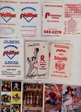 25 Phillies minor league baseballschedules 1981-14 Reading Spartanburg Scranton