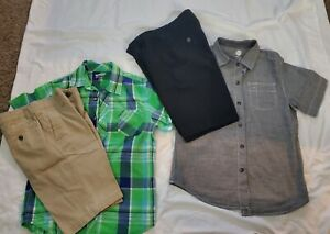 2 Shirts 2 Short Set Boys Size 10/12