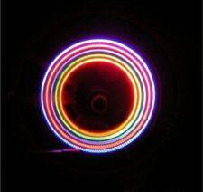 2 x 5 Led Colore Neon Auto Moto Ruota Pneumatico Tappo Valvola Ha Parlato Luci
