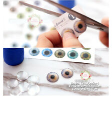 Blythe Doll Eye Chips 14mm Blank Transparent Doll BJD Pullip Glass Repaint OOAK