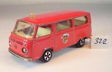 Majorette 1/60 Nr. 244 VW Volkswagen T2 Fourgon Bus Pompiers Feuerwehr 1 #322