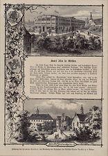 Meissen, Meißen in Sachsen. Fürstenschule Sanct Afra - Stich n. H.Heubner 1882