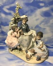 "Htf Lladro Black Legacy ""Family Roots"" Glazed Porcelain Figurine #5371 Guc As Is"