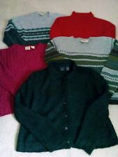Lot of 5 B. Moss Women's Size M Winter Sweaters 4 Pullovers 1 Cardigan 1 Owner