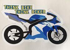 SUZUKI GSXR THINK BIKE BIKER MOTORBIKE CAR WINDOW BOOT STICKER TRACK RACE GSV
