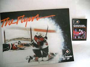 Philadelphia Flyers NHL 1988-89 Season Schedule Wall Calendar/ Pocket Schedule
