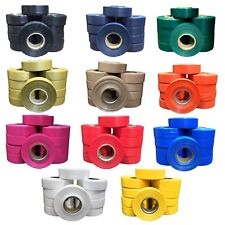 "10 Rolls of Color Hockey Sock Tape / Soccer Tape / Shin Pad Tape / ""Seconds"""