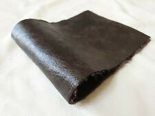 """Rustic brown 100% futura leather offcut 14""""x5.5""""  Craft Patch Repair upcycle"""