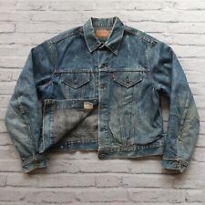 Vintage 90s Levis LVC Type 3 Blanket Lined Denim Trucker Jean Jacket Made in USA