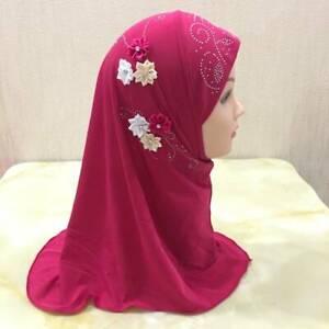 Small Girl Muslim Kid Child Hijab Al Amirah Head Scarf Wrap Islamic Halal Abayas
