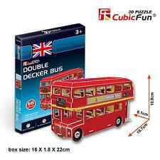 CubicFun 3D Paper Puzzle Model S3018H Double Decker Bus DIY Building Toy 66pcs