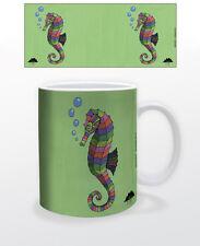 MULGA SARAH THE MAGICAL SEAHORSE 11 OZ COFFEE MUG TEA CUP OCEAN ANIMAL FISH TAIL