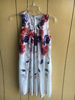 NEW Anthropologie Isabella Sinclair Garden Party Silk Floral Shift Dress 2 (XS)