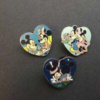 WDW - Hidden Mickey Collection - Sweetheart Hearts - 3 Pin Set Disney Pin 49643