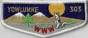 OA Yowlumne Lodge 303  Flap WHT Bdr. Southern Sierra, CA [MX-7730]