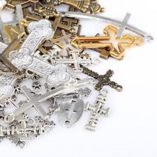 BULK Cross Charms Assorted Lot Wholesale Pendants 80 pieces Religious Christian