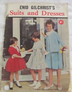 Vintage Enid Gilchrist Suits and Dresses From 5 to 12 Years Pattern Book