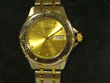 Krieger M882.T.5.56 Velocita Whit Chronometer Certified Tow Tone Band Gold Dial