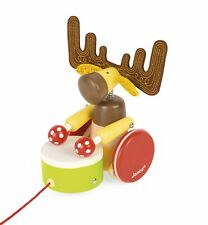 Janod Zigolos Pull Along Drum Elk Early Learning and Motor Skills Toy