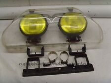 Mitsubishi Delica L300 86-94 OEM yellow front driving fog lights + cover + mount