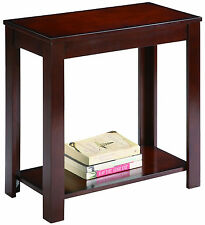 CHAIR SIDE END TABLE IN ESPRESSO FINISH
