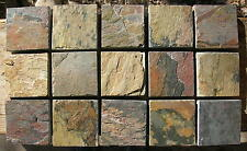 2 x 2 SLATE Stone TILES Sold by Square Foot=36 tiles per Lot Flooring S+H DEAL!