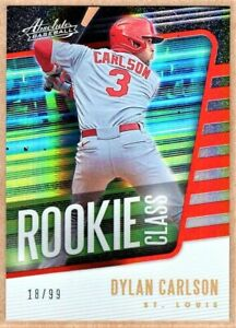 DYLAN CARLSON - 2021 PANINI ABSOLUTE ROOKIE CLASS RED RC /99