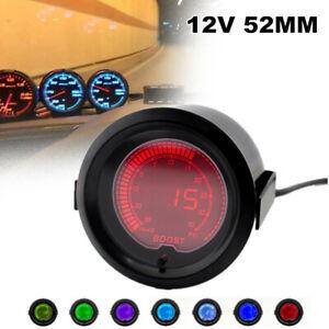 12V 52MM Racing Car Turbine Pressure Gauge Auto LCD Digital Display Meter Kit