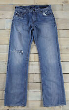 GUESS Los Angeles Desmond Relaxed Distressed Destroyed Blue Jeans Size 30x32