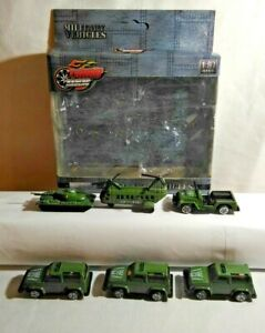TURBO RACERS DIECAST 1:87 SCALE 6 x MILITARY VEHICLE SET - PLU271416 - BOXED