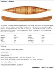 "17'6"" American Traders Atkinson Traveler Wooden Canoe extended decks"