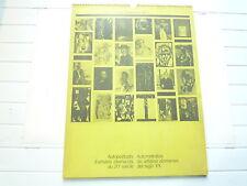 AUTOPORTRAITS D'ARTISTES  ALLEMANDS DU 20e SIECLE CALENDRIER 1970