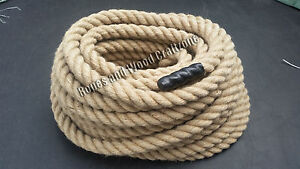 24mm 100% Natural Jute Rope 3 Strand Twisted Cord Decking Garden Boating Camping
