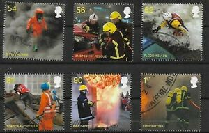 Grossbritannien UK 2009  Mi 2791 - 2796 Satz gestempelt     Firemen  2