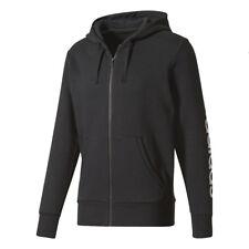 Adidas Essentials Negro de Hombre Gris Sudadera Lineal Polar