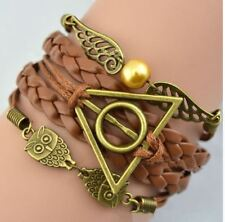 Pulsera Harry Potter. Reliquias de la Muerte ajustable en Marron