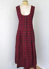 NWT Woolrich Red Black Plaid Cotton Flannel Jumper Mid Calf Dress Pockets XL