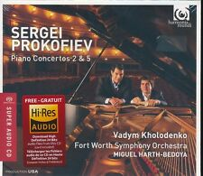 Sergei Prokofiev Piano Concertos 2 and 5 CD NEW SACD Vadym Kholodenko Harth-Bedo