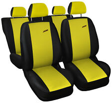 Car seat covers fit Peugeot 306 - XR black/yellow full set sport style