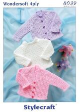 Stylecraft 8039 Knitting Pattern 4ply - Cardigans & Sweater