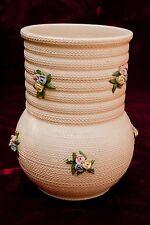 "Italien Albisola Keramik pottery Vase signiert ""Ilsa"" angewandte Blumen 7 1/2"" groß"
