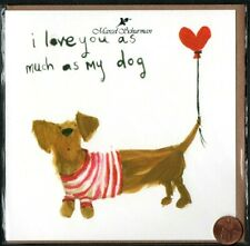 Valentine'S Day Dachshund Dog Red Heart Balloon - Valentine's Day Greeting Card