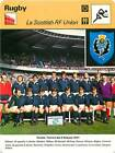 FICHE CARD: PHOTO EQUIPE Scottish RF Union Ecosse 1977 Tournoi RUGBY à XV 1970s