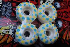 WORLD INDUSTRIES 51mm Checkered Plaid Hard Street NOS Rare Skateboard WHEELS