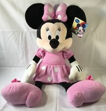 """Massive Pink Minnie Mouse Plush Toy Disney Micky Mouse Club 33"""" Tall"""