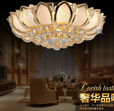 D50cm Elegant Modern Crystal Ceiling Fixture Lamps Chandelier Bedroom Lighting