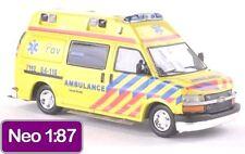 NEO Chevrolet GMT 610 Ambulance 1:87 - HO Chevy Emergency Paramedic Van