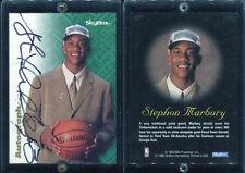 1996-97 Skybox Autographics Stephon Marbury Autograph Auto SP RC Rookie