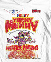 Yummy Mummy T-shirt  Cereal box Boo-Berry Count Chocula 1970's 1980's cotton tee
